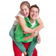Playful bright couple — Stock Photo #5158050