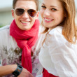 Smiley young couple — Stock Photo