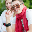 Stock Photo: Young trendy couple