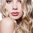 Close-up portrait of beautiful blonde — Stock Photo
