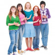 Bright and happy teenagers is clapping — Stock Photo