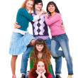 Cheerful company of young — Stock Photo