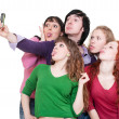 Funny company taking picture — Stock Photo