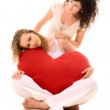One girl reassuring another after rupture — Stock Photo
