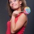Funny girl with lollipop — Stock Photo #5158584
