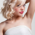 Portrait of attractive blonde — Stock Photo