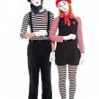 Loving couple of mimes — Stock Photo #5158911