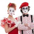Portrait of mimes — Stock Photo