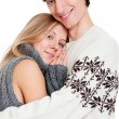 Happy smiley couple — Stock Photo