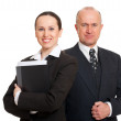 Assured smiley businesspeople — Stock Photo