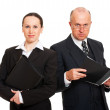Two business with folders — Stock Photo