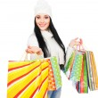 Royalty-Free Stock Photo: Beautiful woman with shopping bags