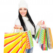 Beautiful woman with shopping bags — Stock Photo #5159632