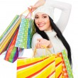 Happy woman with shopping bags — Stock Photo #5159671