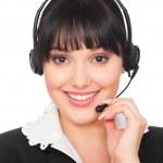 Smiley telephone operator — Stock Photo #5159741