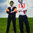 Stock Photo: Business in scubmask and flippers