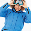 Attractive girl in ski sunglasses — Stock Photo #5159924