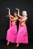 Oriental dance duet — Stock Photo