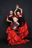 Three Spanish women — Stock Photo