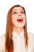 Astonishment young woman — Stock Photo