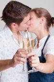 メガネを掛けて美しいカップル — ストック写真