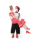 Two beloved mimes — Stock Photo