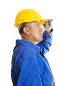 Worker looking forward — Stock Photo