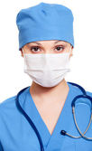 Nurse in mask and uniform — Stock Photo