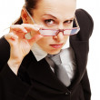 Curious businesswoman - Stock Photo