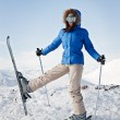 Pretty skier — Stock Photo #5160447