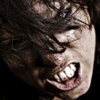 Professionally retouched portrait of angry woman - Stock Photo