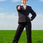 Prosperous businesswoman — Stock Photo #5160485