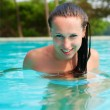 Sexy woman in the pool — Stock Photo #5160553