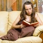 Woman reading novel — Stock Photo #5160896