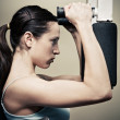 Woman workout in gym — Stock Photo #5161008