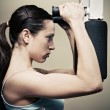 Stock Photo: Woman workout in gym