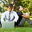 Two businesspeople have a break — Stock Photo