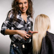 Hairdresser doing her job — Stock Photo