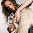 Hairdresser in work — Stock Photo