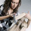 Serious hairdresser doing hairstyle — Stock Photo