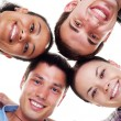 Happy young in circle — Stock Photo