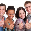 Showing thumbs up - Stockfoto