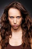 Beautiful woman with gaze — Stock Photo