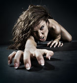 Mujer malvada — Foto de Stock