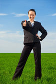 Prosperous businesswoman — Stock Photo
