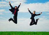 Due colleghi felici — Foto Stock