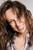 Portrait of happy woman — Stock Photo