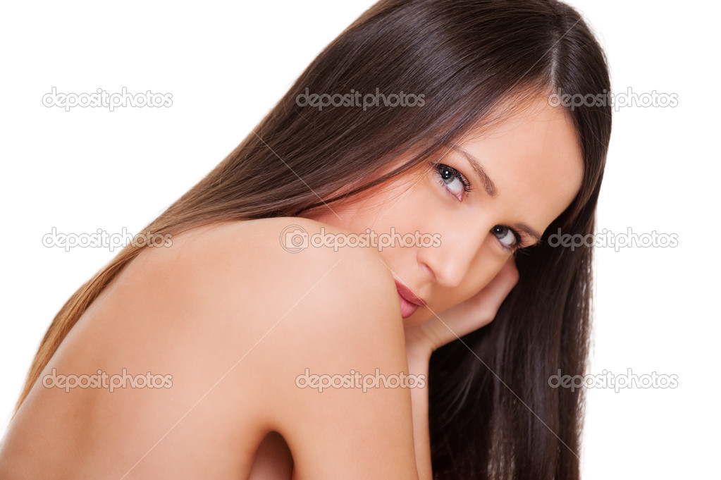 Portrait of beautiful woman with straight long hair — Stock Photo #5160064