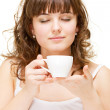 Portrait of woman with cup — Stock Photo #5181507