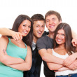 Merry company of young — Stock Photo